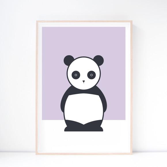 Ping Panda Nursery Art Print