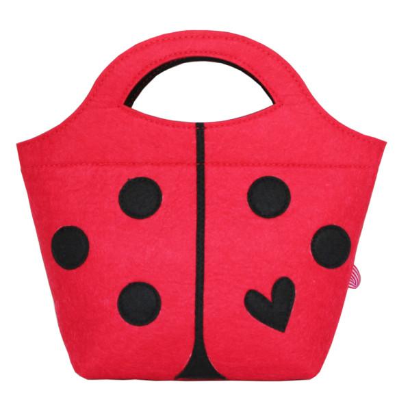 Little Lady Felt Handbag - Spot