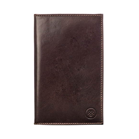 Sestino golf score card holder in chocolate brown