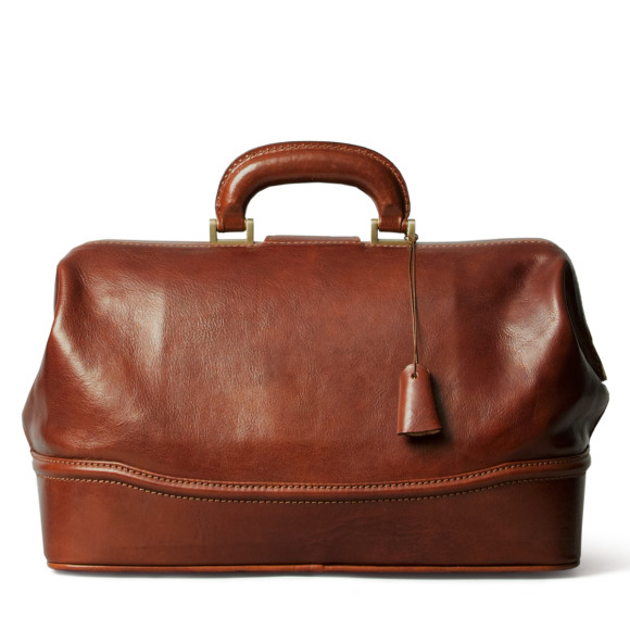 The DonniniS leather doctors bag in chestnut tan.