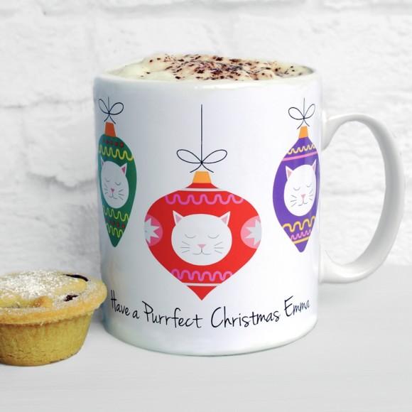 Personalised Frida Christmas Baubles mug