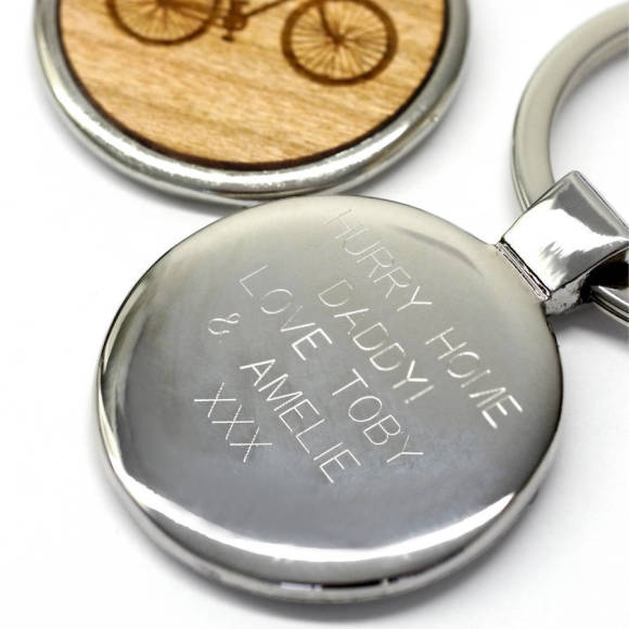 Engraved reverse of keyring