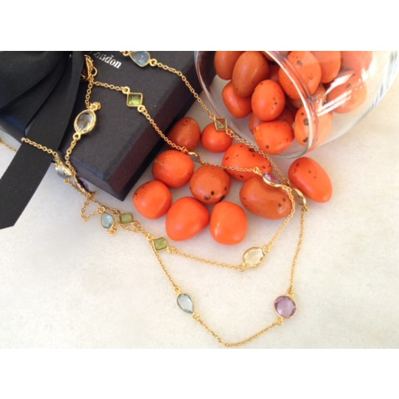 Carnival Necklace with Gemstones