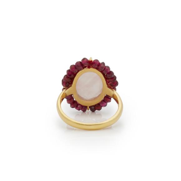 Rose Quartz Halo Ring