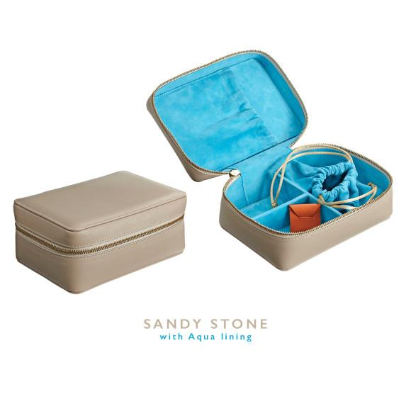Sandy Stone Leather Jewellery Case