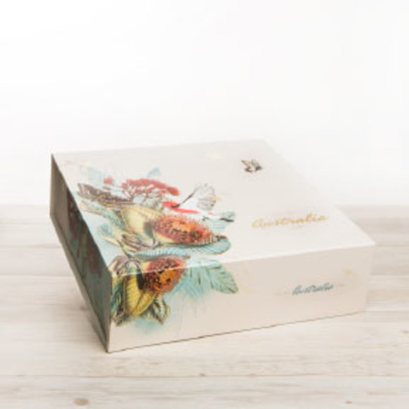 Our signature gift box featuring stunning Australian Flora and Fauna