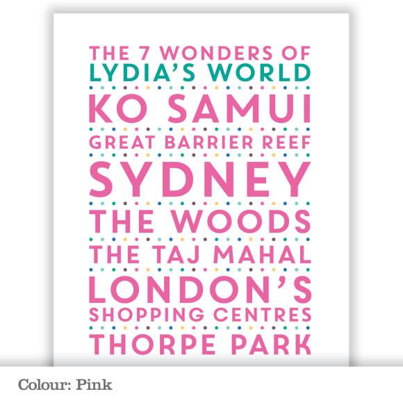 Seven Wonders - Pink