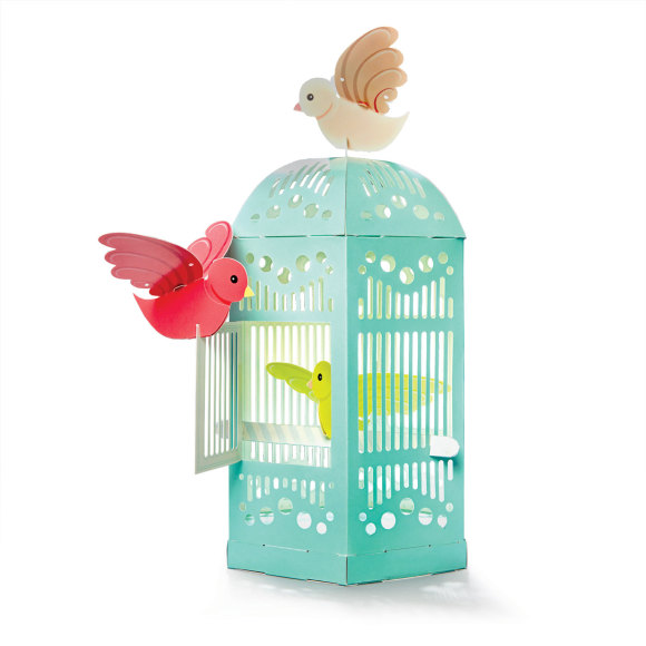Beautiful cardboard birdcage