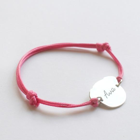 Personalised Fido bracelet pink, reverse