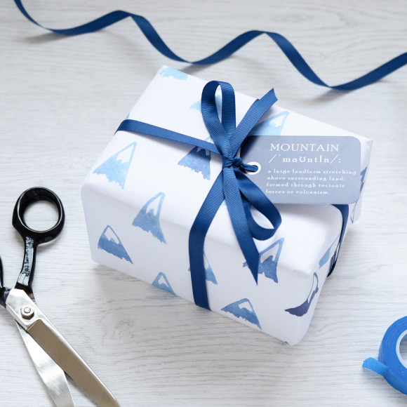 Blue Mountains Watercolour Wrapping Paper Set