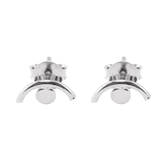 Eye Stud Earrings sterling Silver