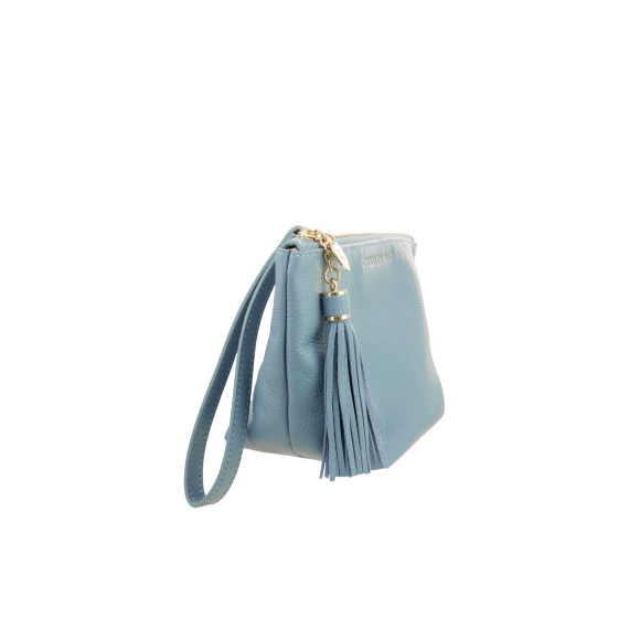 The Ani pouch in light blue leather