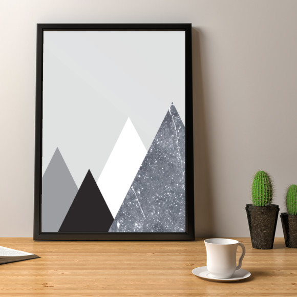 Mountain Marble Art Print Design 1