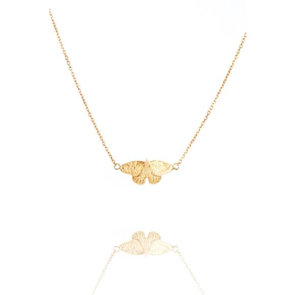 Amanda Coleman butterfly pendant gold vermeil