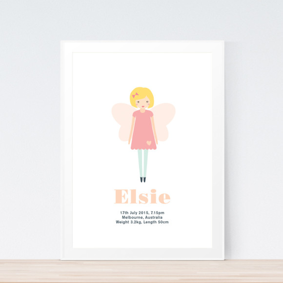 Fairy Birth Print Framed