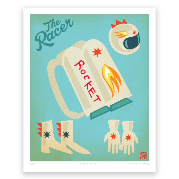 Racer Rocket Art Print
