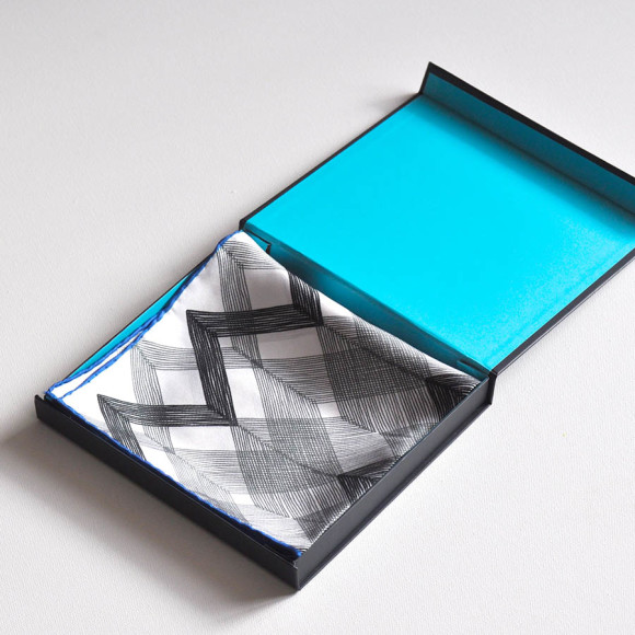 Zig Zag Silk Pocket Square
