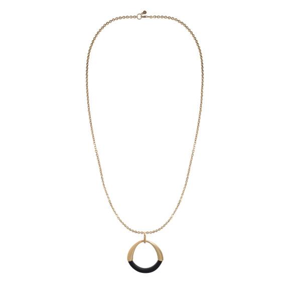Hissia ebony and gold Riviera pendant