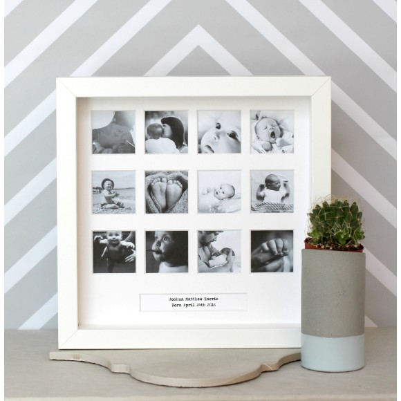 Personalised My First Year Square Photo Frame