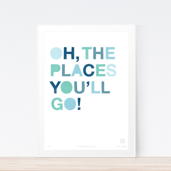 Oh, The Places You (Framed)
