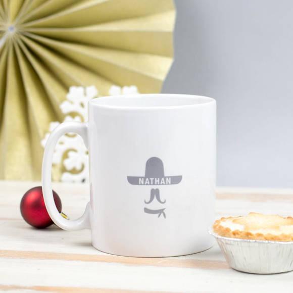 grey - reverse of mug