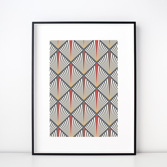 Scarlet Art Deco Limited Edition Art Print