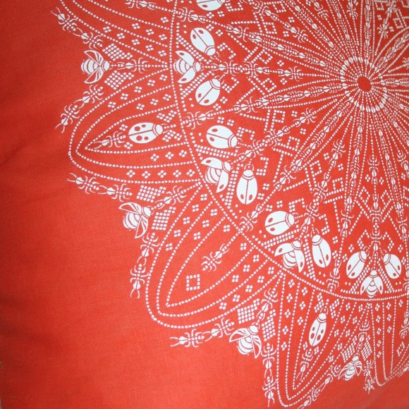 Close up of lace design.