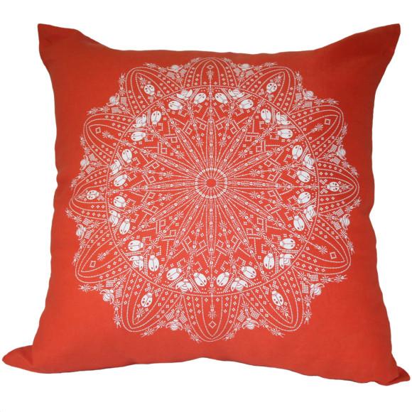 Handmade screen printed cushion to adore!