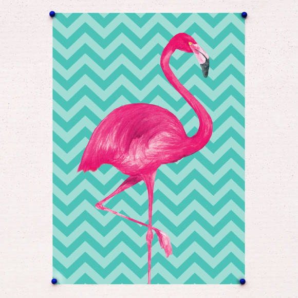Chevron flamingo