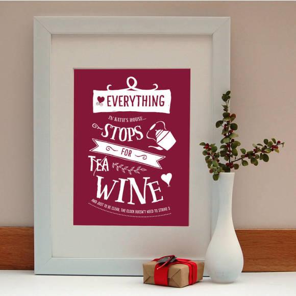 Wine Print Gift