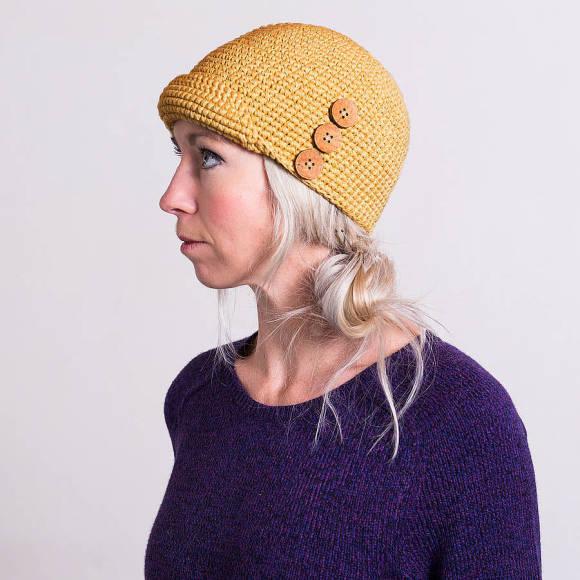 Mustard Cloche Hat