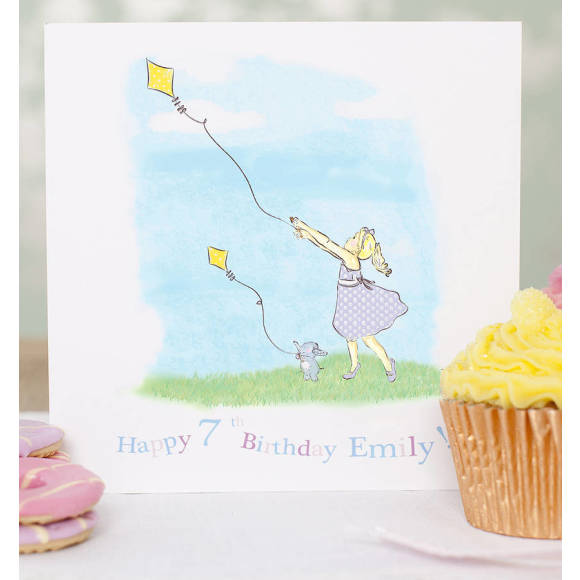 Girl birthday card
