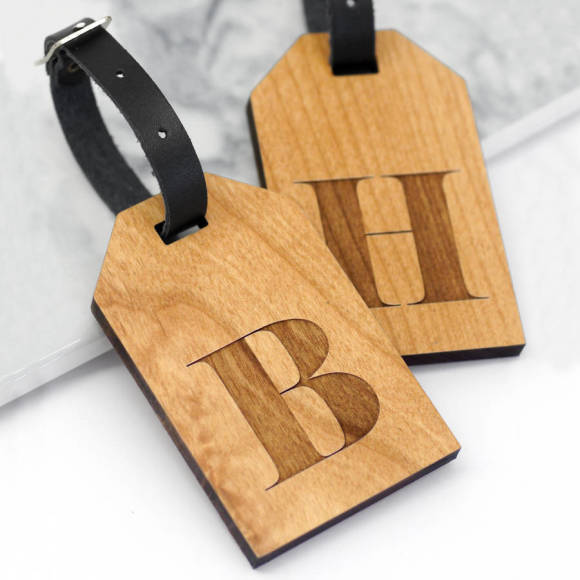 letter luggage tags alderwood