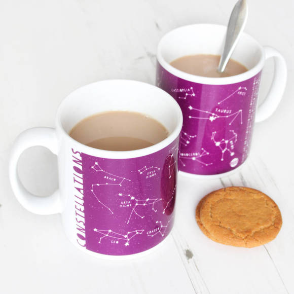 Star contellations purple educational mug