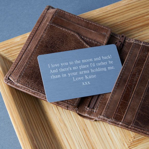 Times New Roman Font Wallet Card