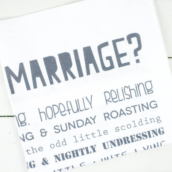 Marriage Tea Towel