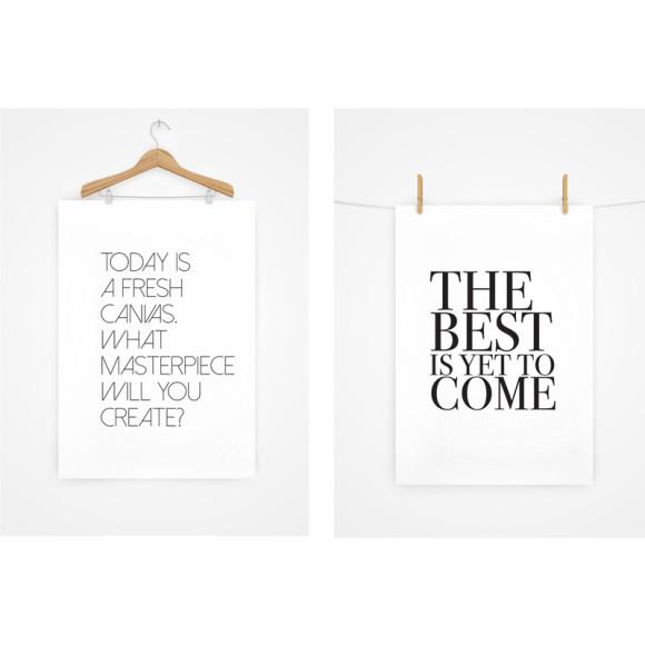 Hang your prints for a unique display idea