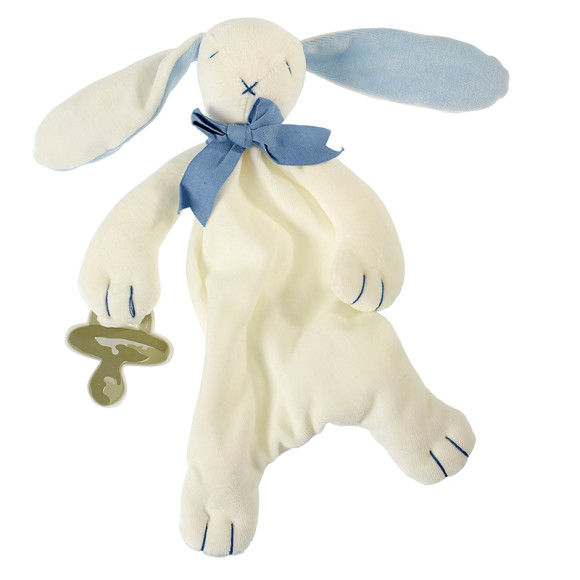 Blue Ears, Rose & Oscar Bunny Baby Soft Toy Comforter