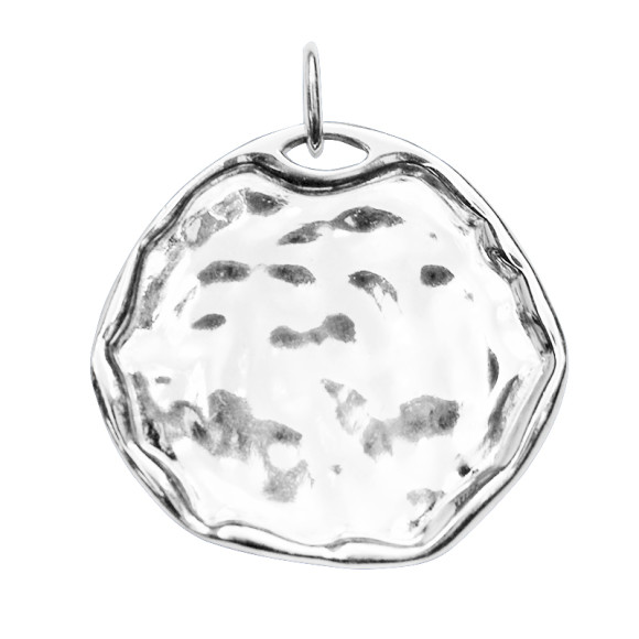 Organic Disc Charm in Sterling Silver