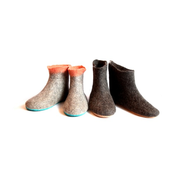 Womens organic gray valenki boots