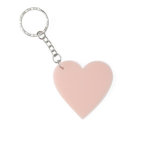 Small blush pink keyring