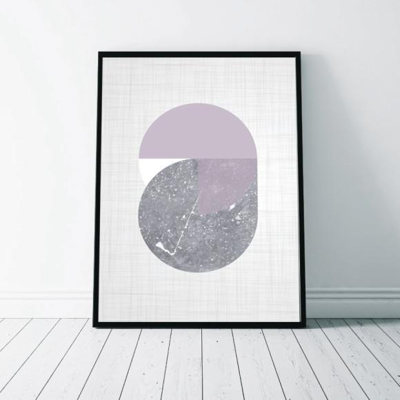 Circular Marble Art Print - 1
