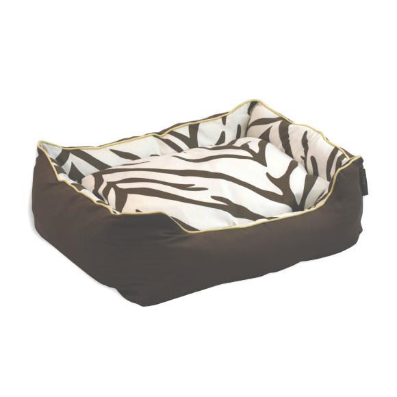 Zebra Brown Dog Bed