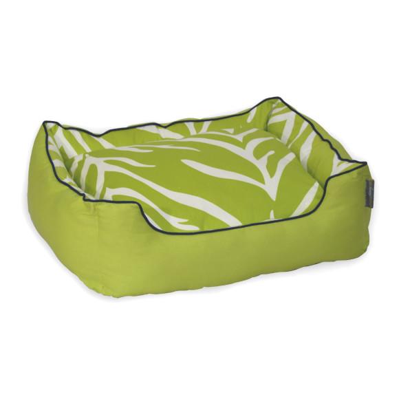 Zebra Lime Dog Bed