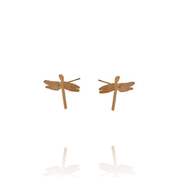 Amanda Coleman Dragonfly Studs 22ct Gold Plated Silver