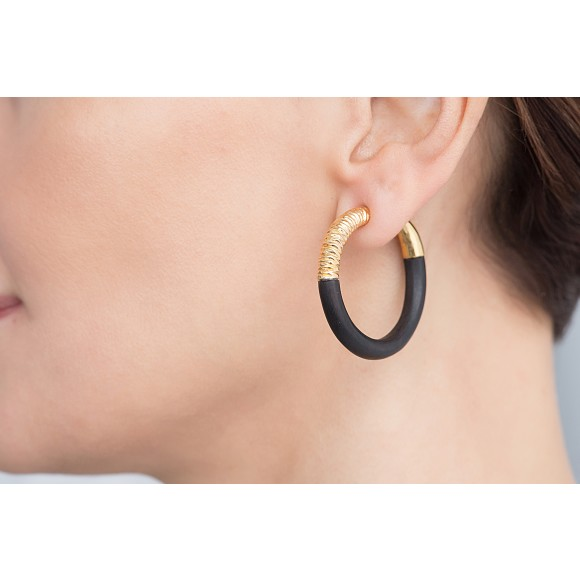 Marrakech gold hoop earrings