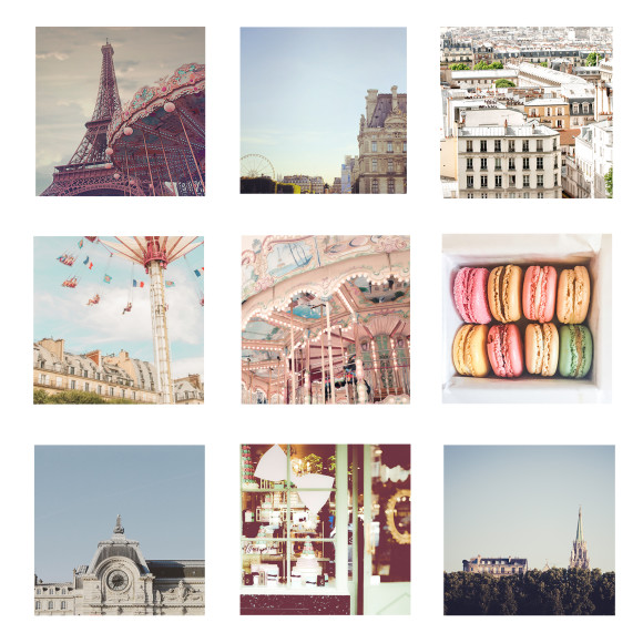 Paris print set