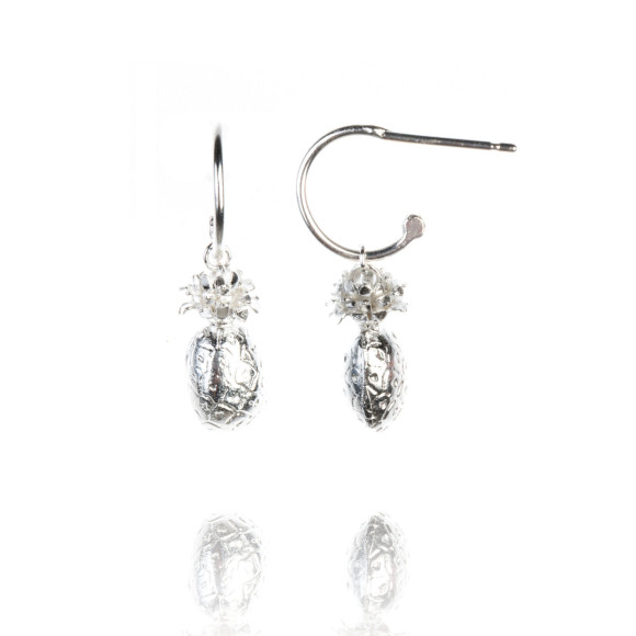 Amanda Coleman pineapple drop earrings 925 sterling silver