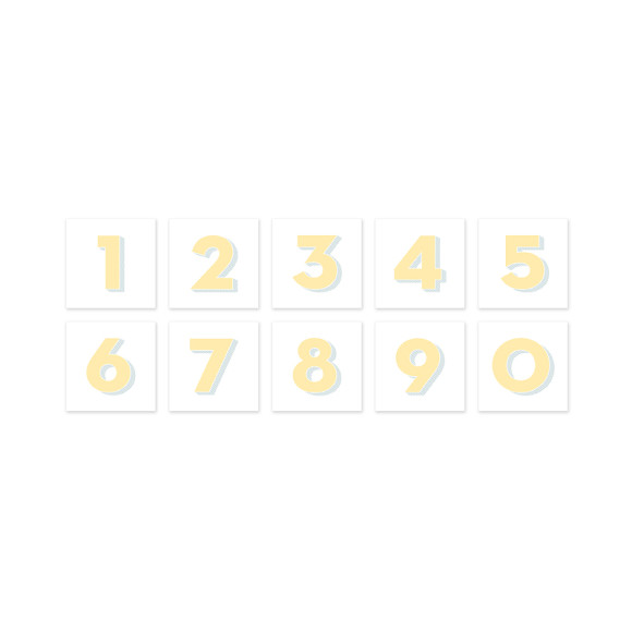 Personalised Yellow Number Art Print