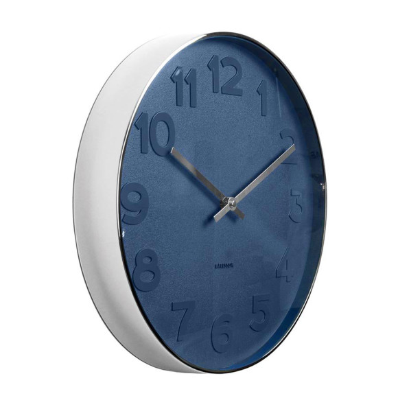Karlsson Mr Blue Wall Clock, S Ø 37, 5 cm, XL Ø 51cm